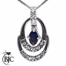 Diamond Not Enhanced White Gold Fine Necklaces & Pendants