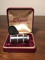 "ELGEET F:3.5 Model Elgeet Cine-Tel 1 1/2"" Lens With Case And Cap"