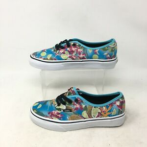 NEW Vans Authentic Lime In The Coconut Low Casual Sneakers Blue Mens 5.5 Women 7