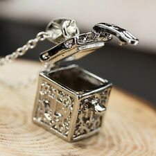 Fashion Jewelry 925 silver Openable Magic Cube Box Locket Pendant Xmas  you51