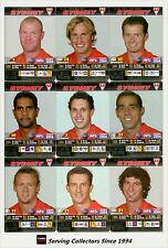 2004 AFL Teamcoach Trading Card Silver Team set Sydney (9)