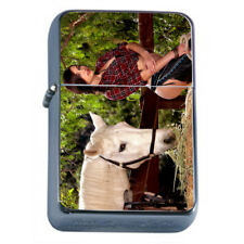 Farmers Daughter Pin Up Girls D4 Flip Top Oil Lighter Wind Resistant With Case