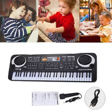 61 Key Music Electronic Keyboard Electric Organ Digital Piano Black + Microphone
