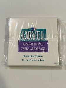 """Dryel Stain Remover Absorbent Pads 4 Pack New 5"""" Square"""