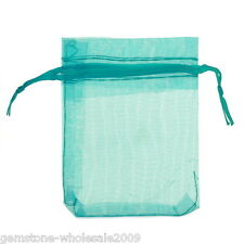 W09  25pcs 7cmx9cm Lightblue Organza Jewelry Gift Pouch Bags Wedding X-mas Favor