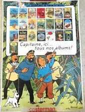 XXX Rare 1983 Casterman Tintin Books promo Poster Affiche EO Herge 1st