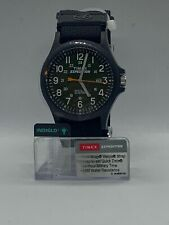 Timex Men's Expedition Acadia Black Green Dial Face 24 Hr SW4B00100 Free Ship