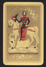 1 Single VINTAGE Swap/Playing Card ENN DECO HORSE MAN 'THE DUKE DU-3-1-A'