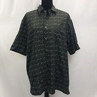 Nicklaus Men's Polo Shirt Black Silk Size L Large