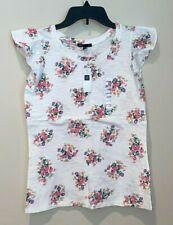 NWT Girls GAP White Floral Cotton Shirt Size XXL 14-16