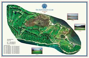 The Kittansett Club 1922 Flynn/Hood  VintageGolfCourse Maps print