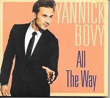 YANNICK BOVY - All the way CD Album 12TR (DIGIPACK) 2014 BELGIUM