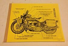 1904-1999,Harley,military,assembly,parts,set up instructions,WLA,WWII,45,wl,wlc