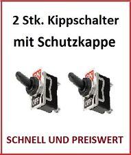Kippschalter 12 V 24 V 230 V 220 V Volt 10 A Amper Schalter Kappe Wasserdicht 2x