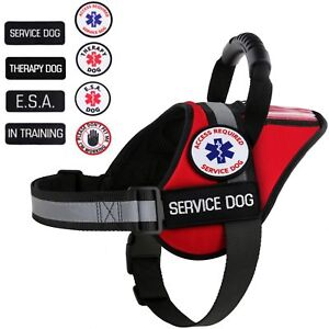 Service Dog - Support Dog - Therapy Dog Vest Harness Patches ALL ACCESS CANINE™