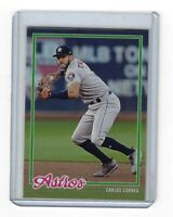 CARLOS CORREA 2018 TOPPS ON DEMAND SET 6 INSPIRED BY 78 DESIGN CARD 9 RED SOX