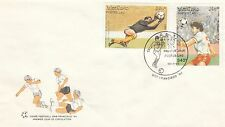 (41493) CLEARANCE Laos FDC Football World Cup San Francisco 15 March 1991