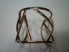 New: PAIGE NOVICK Phoebe Broken Line Crystal Cuff in Rose Gold, $380!!