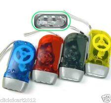 Hand-Press Crank Dynamo 3 LED Flashlight Torch No Battery(Red)