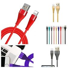 Braided USB  Charger Cable for iPhone 11 xmax x 7 8 Plus XR Xs Max 3ft 6ft 10ft