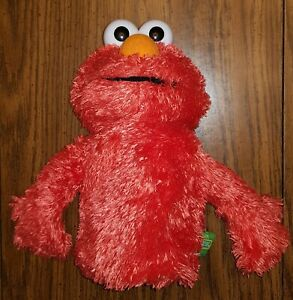 Sesame Street Elmo Muppet Hand Puppet Stuffed Animal Plush Toy