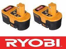 (2) RYOBI ONE PLUS 18 V 18 VOLT NiCAD BATTERY PACK BATTERIES P100