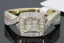 10K Oro Giallo .61 Carati Donna Vera Diamante Nuziale Matrimonio Fidanzamento