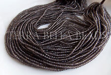 "12.5"" strand AAA SMOKY QUARTZ faceted gem stone rondelle beads 2.5mm brown"