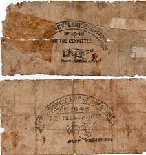 Philippines Capiz Municipal Note 1943 1 Peso S202 Correct Spelling + S202A ERROR