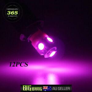 Purple/Pink T10 LED Interior Map Light For HOLDEN COMMODORE VU VT VX VY VZ 12PCS