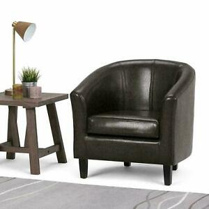 Bonded Leather Chair Armchair Seat Cushion Sofa Dining Living Room Home Office