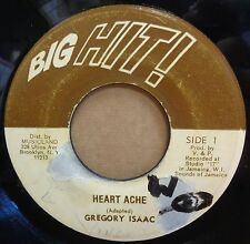 "GREGORY ISAACS HEART ACHE / VERSION OG JAMAICAN BIG HIT! RECORDS 7"" CLIP!"