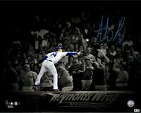 Anthony Rizzo Chicago Cubs Signed 16x20 Wall Catch Vs. Brewers on 8/16/16 Photo