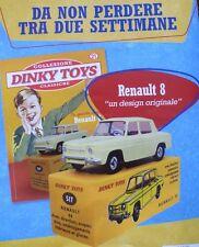 Dinky Toys Renault 8 n.517 jaune De Agostini Atlas èdition italienne mint