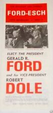 GERALD FORD Presidential Campaign Brochure political pin badge 1976 BOB DOLE