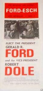 1976 GERALD FORD BOB DOLE Campaign Brochure political button pin presidential