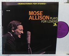 SABA Prestige  MOSE ALLISON - Plays For Lovers    mint LP