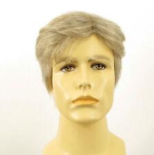 Perruque homme 100% cheveux naturel blanc méché gris ref ALAIN 51