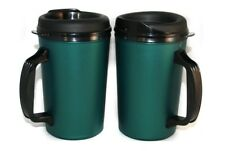 2 Foam Insulated 20 oz. ThermoServ Travel Mugs Green