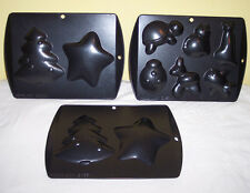 Nestle Toll House Cookie Mold Baking Pans Lot Of 3 Christmas Tree,Star & Animal