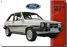 Ford Mk1 FIESTA XR2 Letrero Metal, FORD Clásico cars.iconic 1980's Pequeño Coche