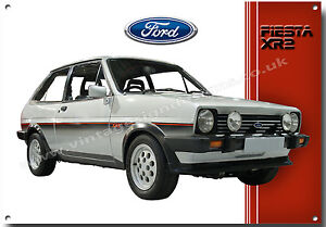 MK1 FIESTA XR2 METAL SIGN,CLASSIC CARS.ICONIC 1980'S SMALL CAR
