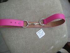 """Hot Pink Belt, Bit Buckle, 1.5"""" Wide, Soft Lambskin, Adjust 37"""" - 38"""", Kemestry"""