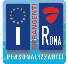 2 ADESIVI TARGA MOTO EUROPEA, RIFRANGENTI CON LOGO DUCATI E PROVINCIA, TUNING