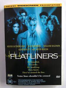 Flatliners (1990, Region 4 DVD, Kiefer Sutherland, Julia Roberts, Kevin Bacon)