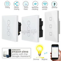 WIFI Smart Dimmer Light Wall Switch Touch Panel Timer RC For Alexa Google