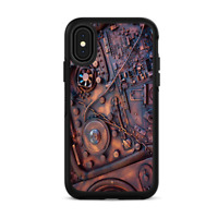 Skins for iPhone X Otterbox Defender Stickers - Steampunk Metal Panel Vault Gear