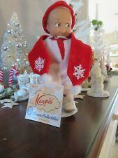 Cameo Kewpie Doll By Jesco Rose O'Neill w/tag 2002 Winter Snowsuit scarf hat