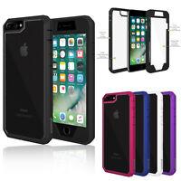 For Apple iPhone 7 / 7 Plus Slim Shockproof Hybrid Hard Bumper Soft Rubber Case