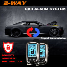 2Way Car Alarm Security System Keyless LCD Super Long Distance Control Antitheft